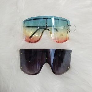 Nwt Black Multicolored wide sunglasses